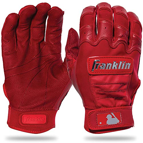 Franklin Sports CFX Pro Full Color Chrome Series Batting Gloves CFX Pro Full Color Chrome Batting Gloves, Red, Adult - Baseball Jordan