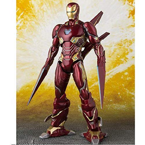 Anime Character Statue Avengers SHF Iron Man MK50 Nano Weapons Edition Movable Toy Statue Handmade PVC Model (16cm)