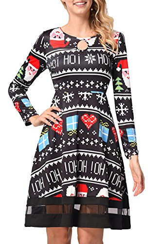 AEETE Damen Kleid Stripes Black 6RnOmyuB - synergistic.casa4people.de