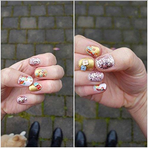 NICOLE DIARY 4 Boxes Unicorn Gradient Nail Glitter Sequins ...