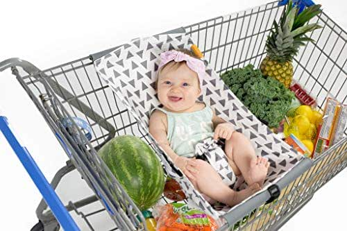 BINXY BABY Shopping Cart Hammock   The Original   Holds All Car Seat Models   Ergonomic Infant Carrier + Positioner