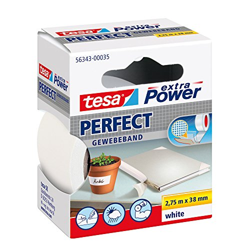 tesa Gewebeband, extra Power Perfect, weiß, 2,75m x 38mm