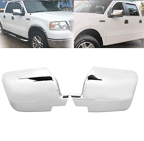 Hot Sale Chrome Pair ABS Side Door RearView Mirror Full Covers Cap For Ford F150 FX2 FX4 2004 2005 2006 2007 2008