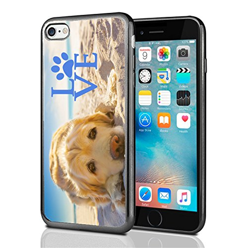 Golden Retriever with Love Paw for iPhone 7 (2016) & iPhone 8 (2017) Case Cover by Atomic - Iphone Golden Retriever