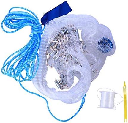 メッシュトラップネット、折りたたみベイトキャストポータブルフィッシングランディングネットエビのケージ、ロブスターエビ、ミノーザリガニ、ハンドロープフローティングサークル