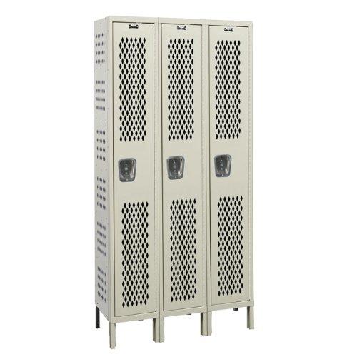 Heavy Duty Ventilated Locker (Heavy-Duty 1 Tier 3 Wide Ventilated Box Locker Size: 36