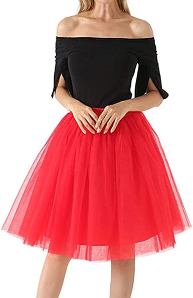 Red Petticoat Tulle Petticoat 2 layers Christmas Party dress accessory
