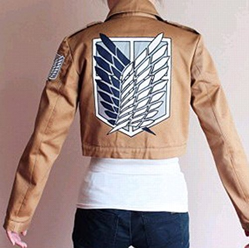 Buy-Box Women's Cos-me Attack on Titan Survey Corps Khaki Jacket Coat by Buy-Box (Image #3)