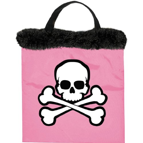 Family Friendly Halloween Costumes For Adults (Family Friendly Birthday Pink Skull & Crossbones Treat Bag Party Favour, Fabric, 14