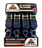 #6: Tiger Tie Down Straps-4PK-Extra Long 20ft -500lb Load Cap, The Ultimate Utility Trailer Tiedowns, These Tie Down Straps Have A 1500lb Break Strength. Premium Heavy Duty Locking Straps Tiedowns