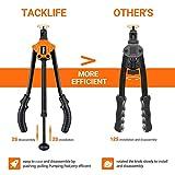"TACKLIFE Rivet Nut Tool, 14"" Auto Pumping Rod Rivet Setter Kit with 7 Metric & SAE Mandrels and 35pcs Rivnuts - HHNP1A"