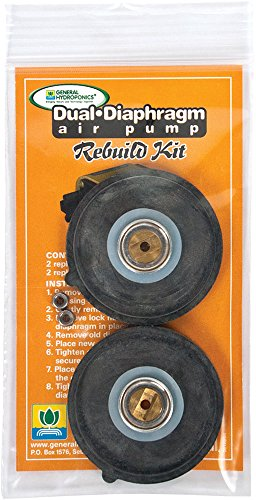 (General Hydroponics GH2712 Dual Diaphragm Rebulid Kit (Pack of 5))