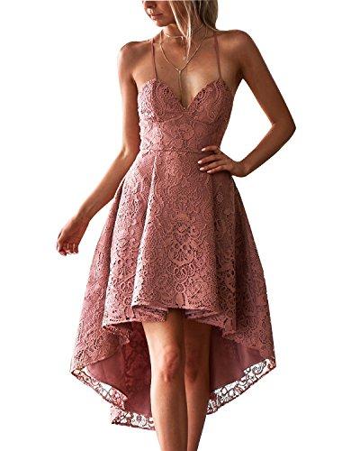 Rosa Mujer Para Básico Vestido Abyoxi HSvYnUn