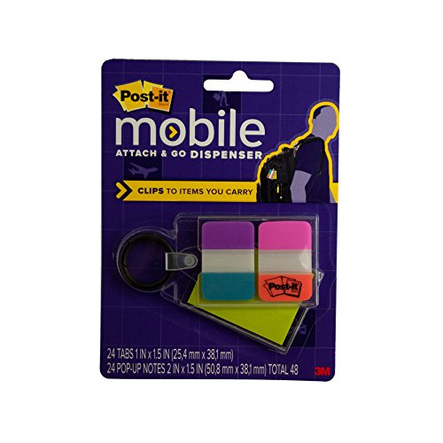 Kole Imports Post-it Notes & Tabs Attach & Go Clip-On Dispenser (OL208)
