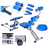 Cirocco 5 in 1 Multi-Functional AB Abdominal Rocket Height Incline Decline Adjustable Bench w/ Elastic Rope Heavy Duty Comfortable Cushioned Exercise Core Workout Fitness Machine for Home Gym Training