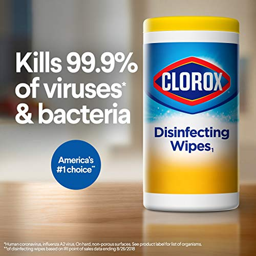 Clorox Disinfecting Wipes, Bleach Free Cleaning Wipes, Fresh, 75 Count (Package May Vary)