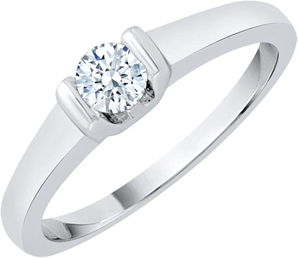 Size-7.5 1//5 cttw, Diamond Wedding Band in Sterling Silver G-H,I2-I3