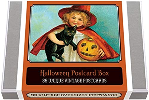 Halloween Postcard Box - 36 Unique Vintage Postcards: Halloween