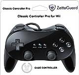 Zettaguard New Classic Pro Controller Console Gampad/Joypad For Nintendo Wii WiiU Black (ZG-WC1)