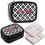 Miamica (2 Pack) 7-Day Pill Organizer for Women Small Travel Pill Case Box Cute Weekly Container