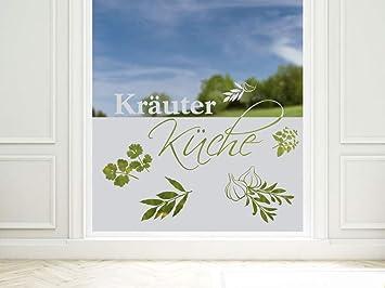 Grazdesign Glasfolie Krauter Kuche Sichtschutzfolie Fenster
