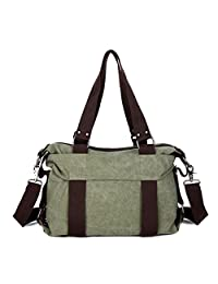 Tibes Vintage Canvas Shoulder Handbag Hobo Purse Crossbody Bag