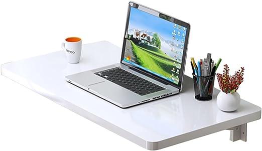 LXLA- Escritorio Plegable de Pared Mesa de informática Blanca ...
