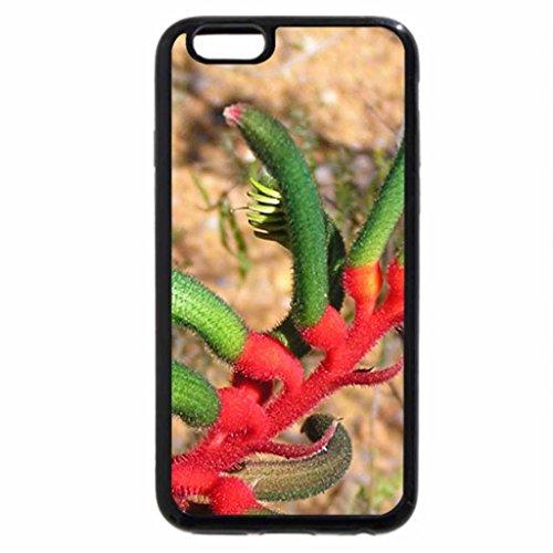 iPhone 6S / iPhone 6 Case (Black) KANGAROOPAW FLOWER
