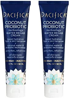product image for Pacifica Beauty Deeply Hydrating Probiotic Water Rehab Cream, Vegan & Cruelty Free, Coconut, 3.4 Fl Oz
