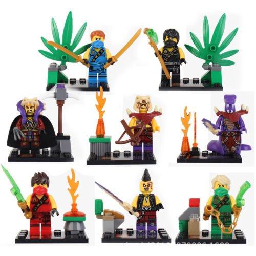 [gonggamtop 8pcs Phantom Ninjago Jay Zane Cole Kai Lloyd Blocks Minifigures Xmas Gifts Toys] (Diy Toothless Dragon Costume)