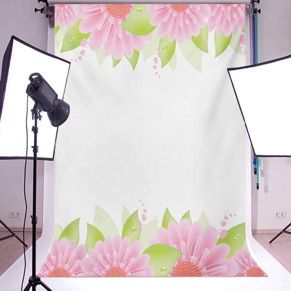 Mauve 8x10 FT Backdrop Photographers,Big Fresh Flower Floret Buds Bouquet Motif Valentine Romance Blossoms Design Print Background for Baby Birthday Party Wedding Vinyl Studio Props Photography