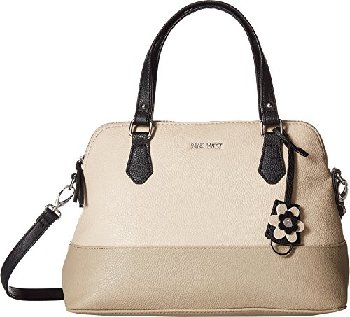 Nine West Women's Dealing Times Satchel Beige/Mushroom/Black One Size