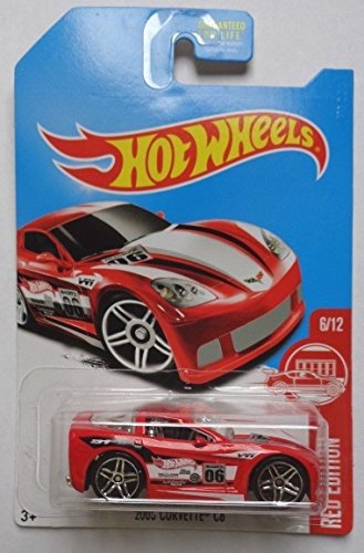 2017 Hot Wheels Target Exclusive Red Edition 6/12 - 2005 Corvette C6 [Red]
