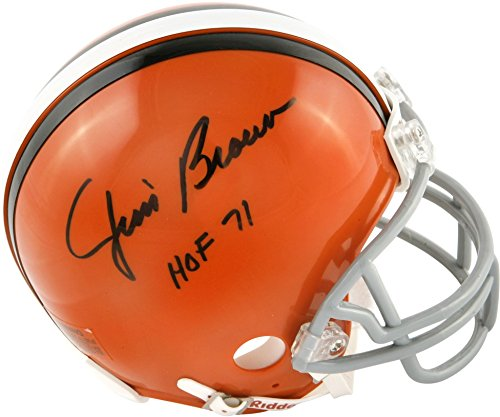 Jim Brown Cleveland Browns Autographed Riddell Mini Helmet w