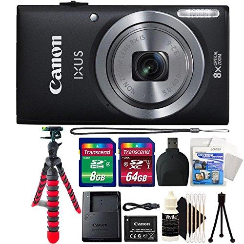 Canon IXUS 185 / ELPH 180 20MP Black Compact Digital Camera