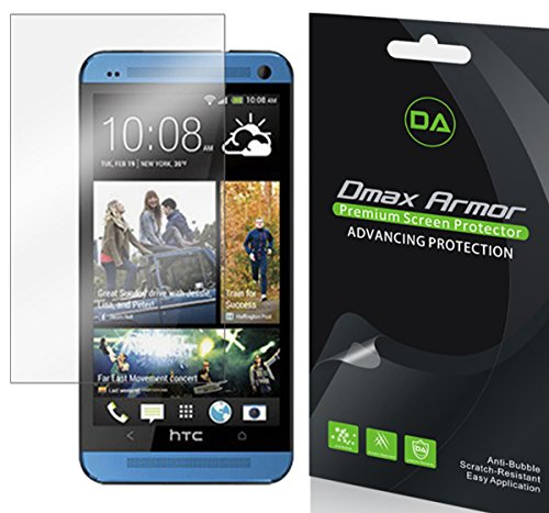 [6-Pack] Dmax Armor- HTC One Remix Screen Protector Anti-Bubble High Definition Clear Shield - Lifetime Replacements Warranty- Retail - Scratch Remix