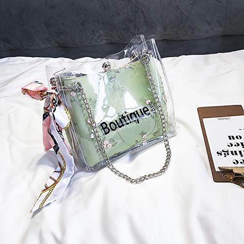 bandoulière WSLMHH chaîne Bag Sauvage Sacs à Sac Main Messenger Transparent Sac Vert Sac Dames Messenger vrWFvxna