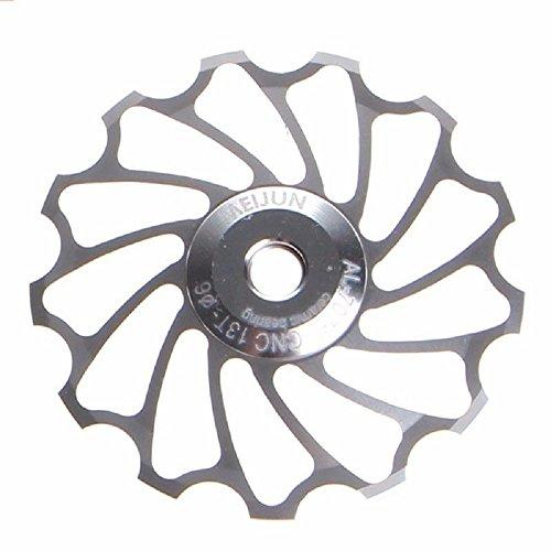 10 Mm Derailleur Hanger (Bike Bearing,ZIYUO 13T MTB Ceramic Bearing Jockey Wheel Pulley Road Bike Bicycle Rear Derailleur (support 7/8/9/10 speed) (Silver))
