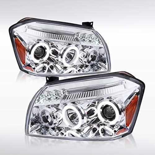 Autozensation For Dodge Magnum Chrome LED Halo Projector Headlights (Dodge Magnum Srt8 Headlights)