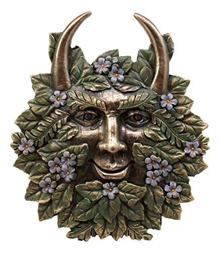 Ebros Gift The Horned God Spring Season Greenman Pan Wall Decor Plaque 7