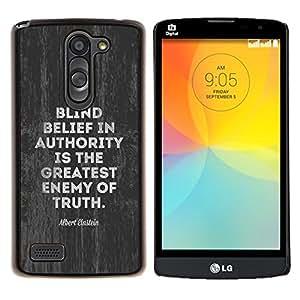 Dragon Case - FOR LG L Bello L Prime D337 - authority enemy truth movement political - Caja protectora de pl??stico duro de la cubierta Dise?¡Ào Slim Fit