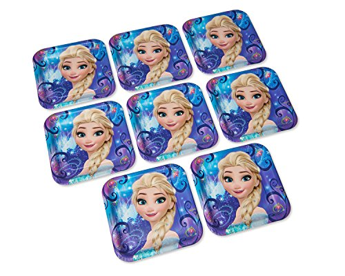 """American Greetings Frozen Magic Square Plate (8 Count), 9"""""""