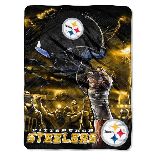 60x80 Nfl Plush Blanket (NFL Pittsburgh Steelers Sky Helmet Plush Raschel Throw, 60