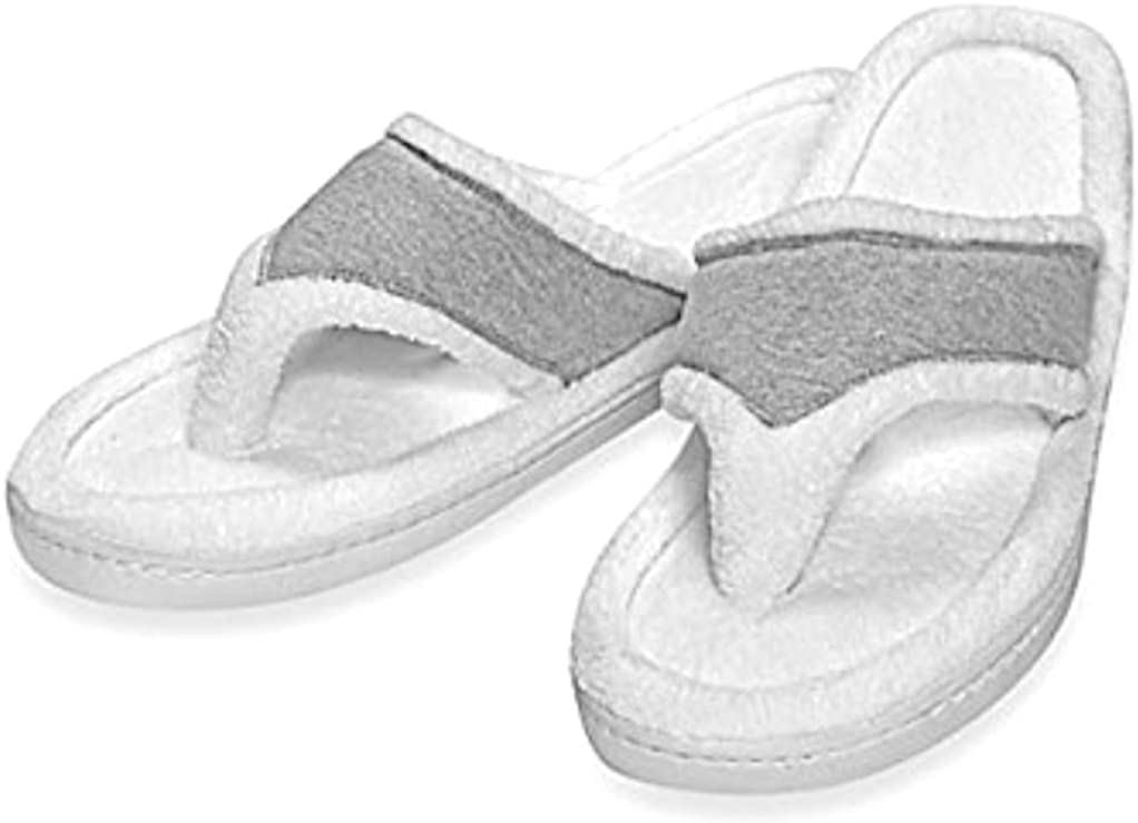 Gray Life is Good Soft flip flop slippers Small 5-6 NEW