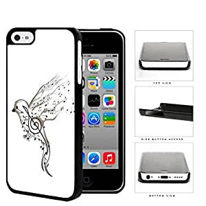 Song Bird And Musical Notes Hard Plastic Snap On Cell Phone Case Apple iPhone 5c