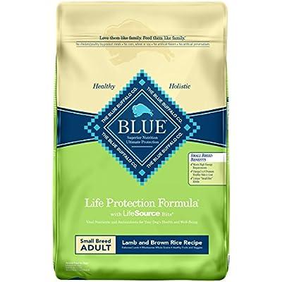 Blue Buffalo Life Protection Formula Small Breed Dog Food – Natural Dry Dog Food for Adult Dogs – Lamb and Brown Rice – 15 lb. Bag