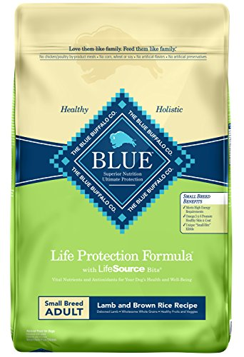 Blue Buffalo Life Protection Formula Small Breed Dog Food - Natural Dry Dog Food for Adult Dogs - Lamb and Brown Rice - 15 lb. Bag