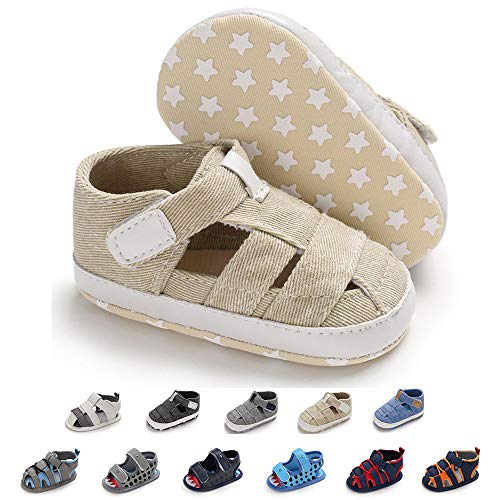 (Sawimlgy US Infant Boys Girls Summer Athletic Sandals with Double Straps Grippers Bottom Babys First Walkers Shoes)