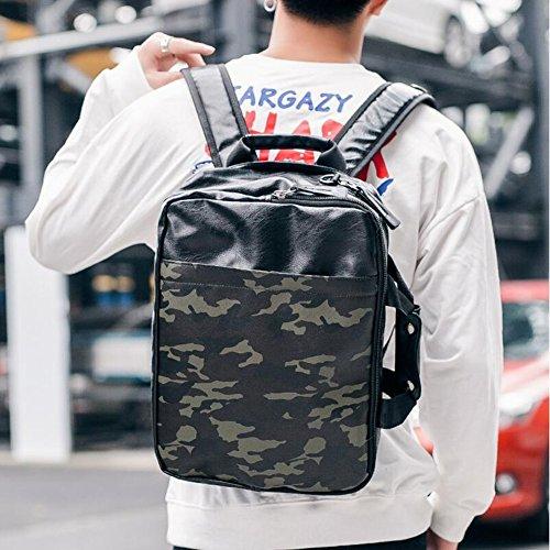 LIANZI Daypacks Männer Umhängetasche Umhängetasche Lässige Handtasche Vintage Rucksack Rucksack Rucksack