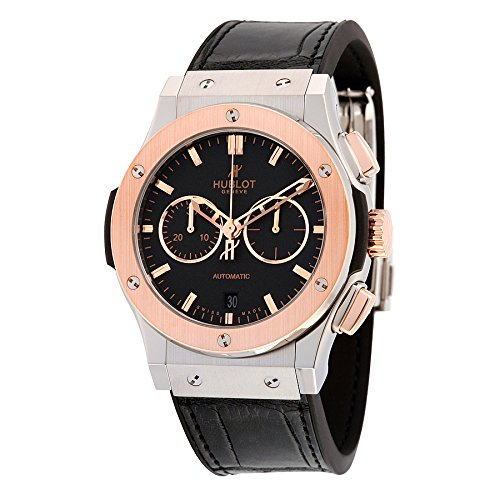 Hublot Classic Fusion Chronongraph Automatic Black Dial Black Leather Mens Watch 541.NO.1180.LR
